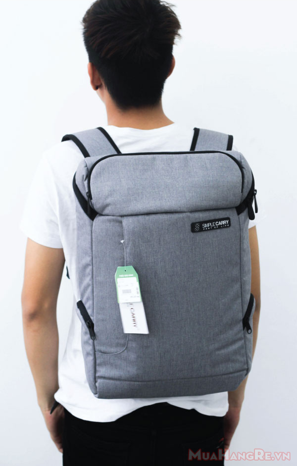 Balo-simplecarry-k5-grey-8