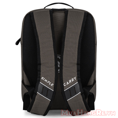 Balo-simplecarry-m-city-brown-3