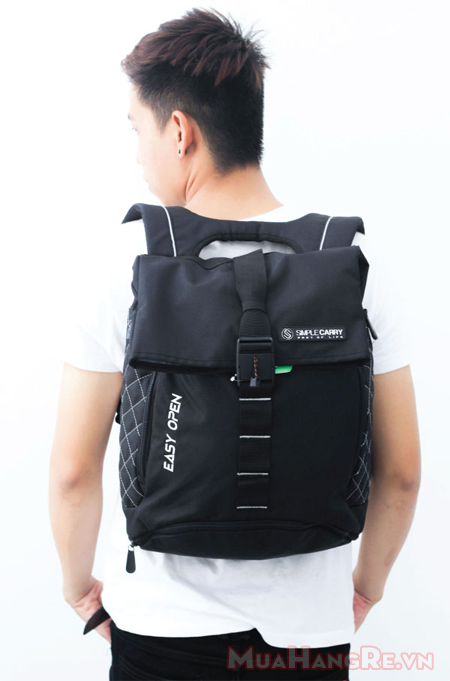 Balo-simplecarry-easy-open-black-5